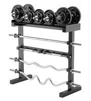 gym weight rack isolated on white background