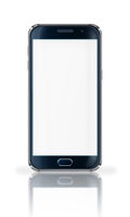 Mobile phone with blank screen.