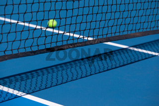 Tennis Court with Ball and Net