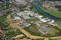 Industrial area of Lohr am Main