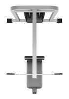 top view of gym pull-down machine isolated
