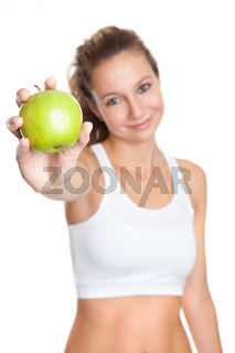 Woman on a heathy diet to keep that perfect body