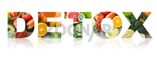detox, healthy eating and vegetarian diet concept