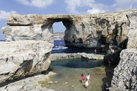 Azur Windwow and Blue Hole,  Zerka Tor, Gozo, Malt