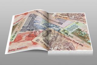 Indische Rupien Banknoten   Indian rupees bills