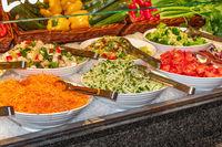 Salad bar closeup