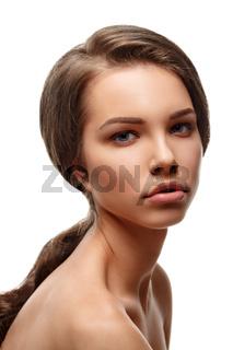 Beauty Girl. Portrait of Beautiful Young Woman.