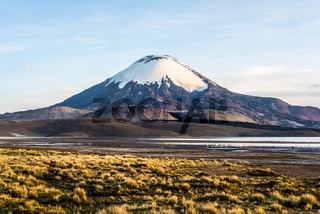 Parinacota Volcano, Lake Chungara, Chile