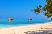 Tropical Maldives island