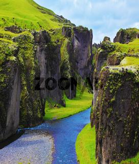The most picturesque canyon Fjadrargljufur