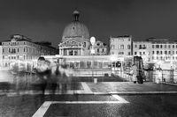 Passengers at Santa Lucia, waterbus stop, Venice, Venezia, Italy