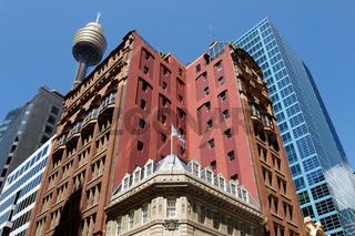 Stadtbild im Geschäftszentrum von Sydney