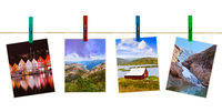 Norway travel photography on clothespins