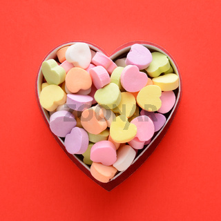 Candy Hearts in Box