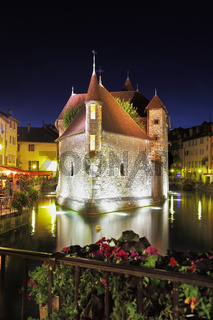 Castle is beautifully reflected in the dark water
