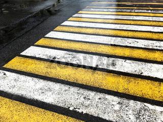 pedestrian crossing during the rain