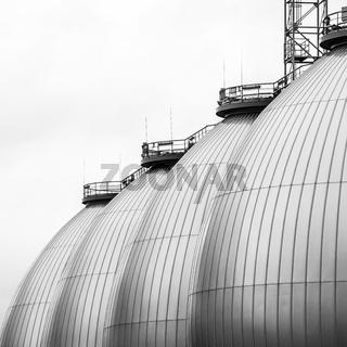 Faultürme im Klärwerk Köhlbrandshöft, Hamburg
