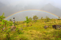 Gazing at a Lofoten Rainbow