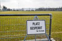 Football field is locked