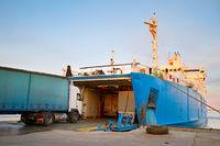 Crimea ferry boat