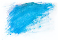 Blue watercolor paint on white canvas. Super high resolution and quality.