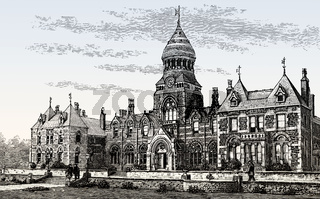 Theological Institution, Headingley Hinsley Hall, Headingley Lane, Leeds, England, 19th century