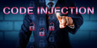 Computer Administrator Pressing CODE INJECTION