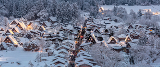 Shirakawago light-up Panorama