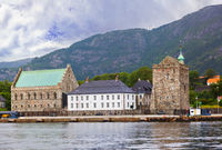 Old fortress in Bergen Norway