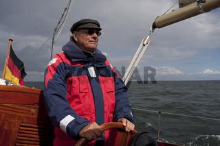 Senior auf See