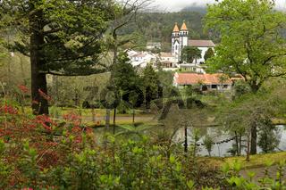 Park Terra Nostra and village of Furnas, Sao Miguel, Azores