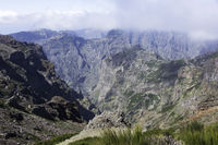 pico arieiro on madeira island in the clouds