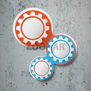 Infographic Chains White 3 Gears Concrete PiAd