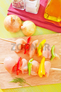 chicken kebab with vegetables