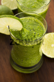 Healthy green drink, vegetable juice