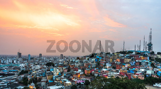 Guayaquil city at sunset