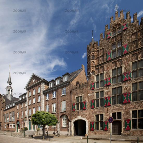 Historic houses in the old town of Goch, Germany
