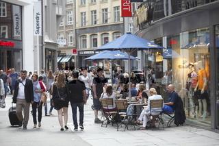 Einkaufsstraße Gerhofstrasse, Hamburg, Deutschland, Europa