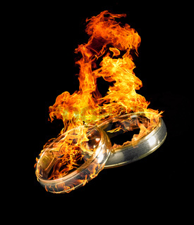 burning wedding rings