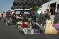 Buyers at open air flea market