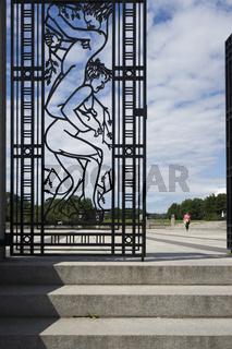 Schmiedeeisernes Tor im Vigelandpark in Oslo
