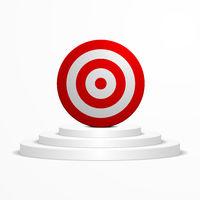 Target on a podium