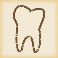Grungy tooth icon