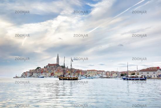 Old Istrian town of Rovinj or Rovigno in Croatia