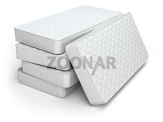 White mattress isolated on white