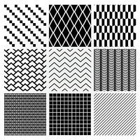 Geometric Monochrome Seamless Background Patterns