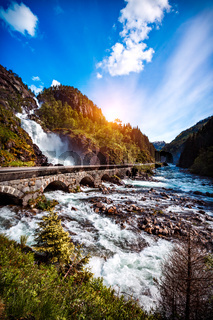 Latefossen waterfall Norway