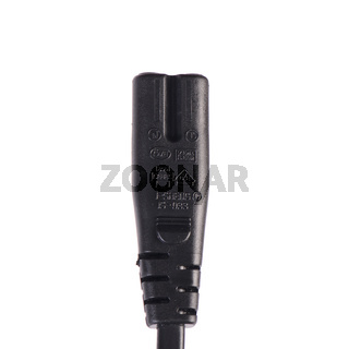 USB cable plug isolated on white