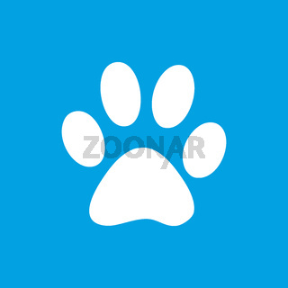 Paw white icon