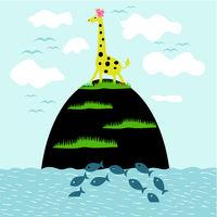 Giraffe on the island